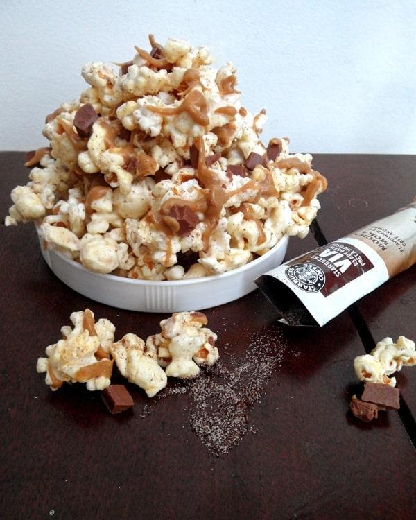 Mocha Popcorn with Caramel