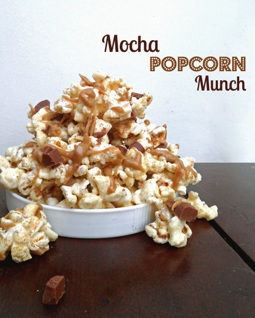 Pile of Mocha Popcorn