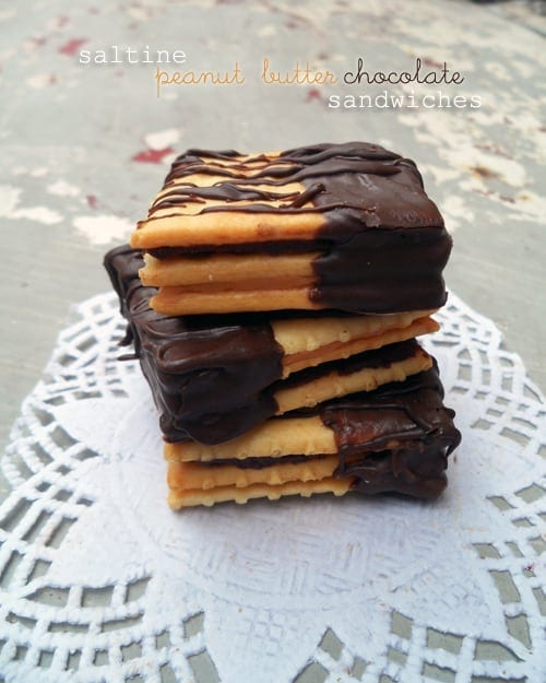Stack of Saltines with Chocolate