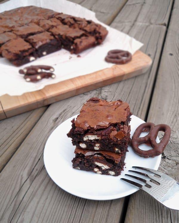Chocolate Pretzel Brownies