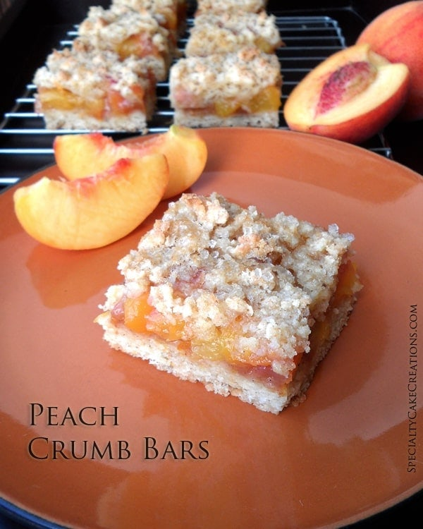Whole Wheat Peach Crumb Bars