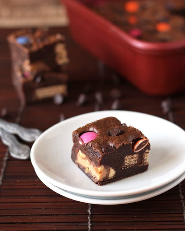 Candy Loaded Fudge Brownies