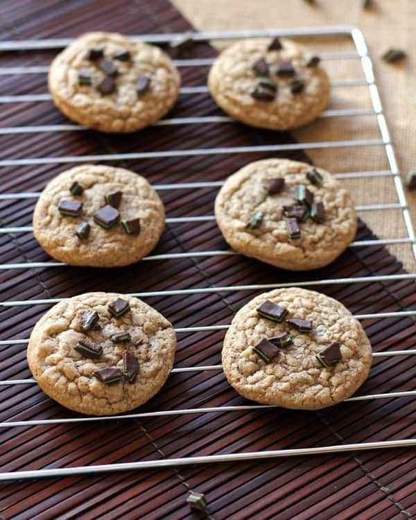 Cooling Chocolate Mint Chip Cookies