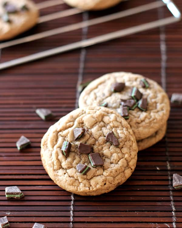 Chocolate Chip Cookies with Mint