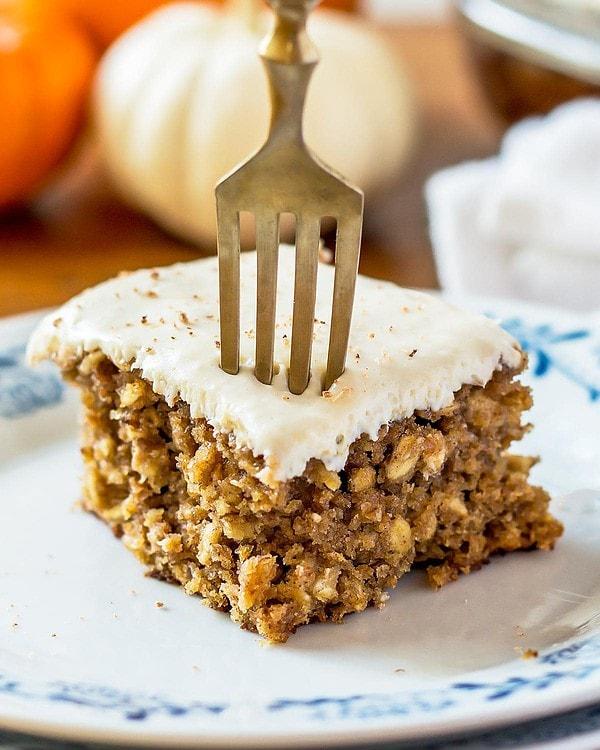Healthy Pumpkin Bar on Plate