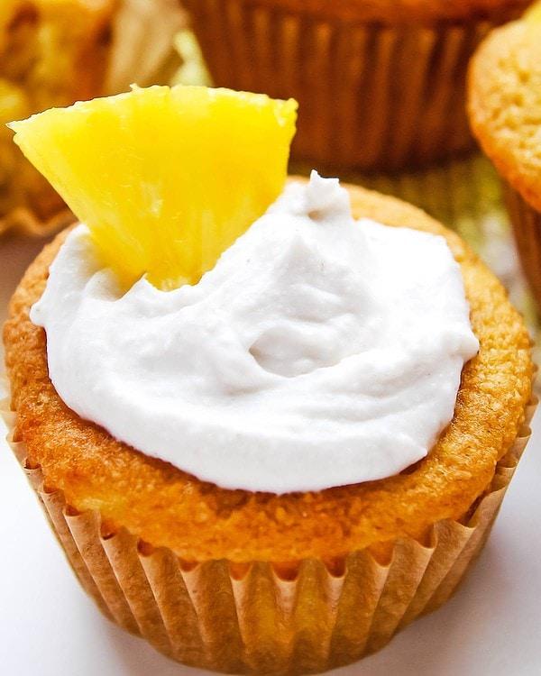 Pineapple Coconut Cupcake closeup