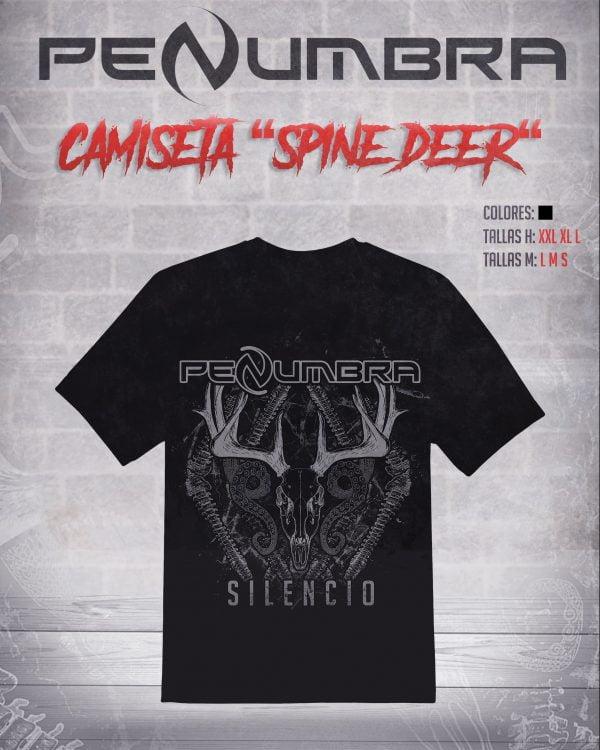 camiseta Spine deer silencio penumbra