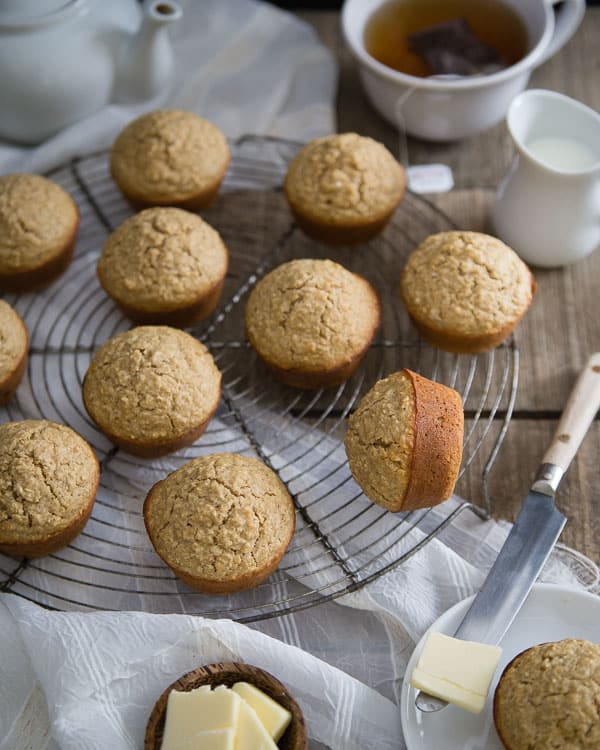 These Irish brown bread muffins have all the flavor of the traditional Irish brown bread in muffin form. Add the optional candied ginger for a nice subtle texture and bite.