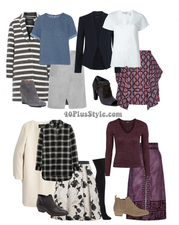Booties with long and short skirts   40plusstyle.com