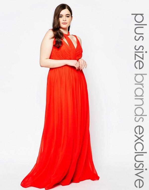 vestidos-de-fiesta-para-gorditas-largo-rojo