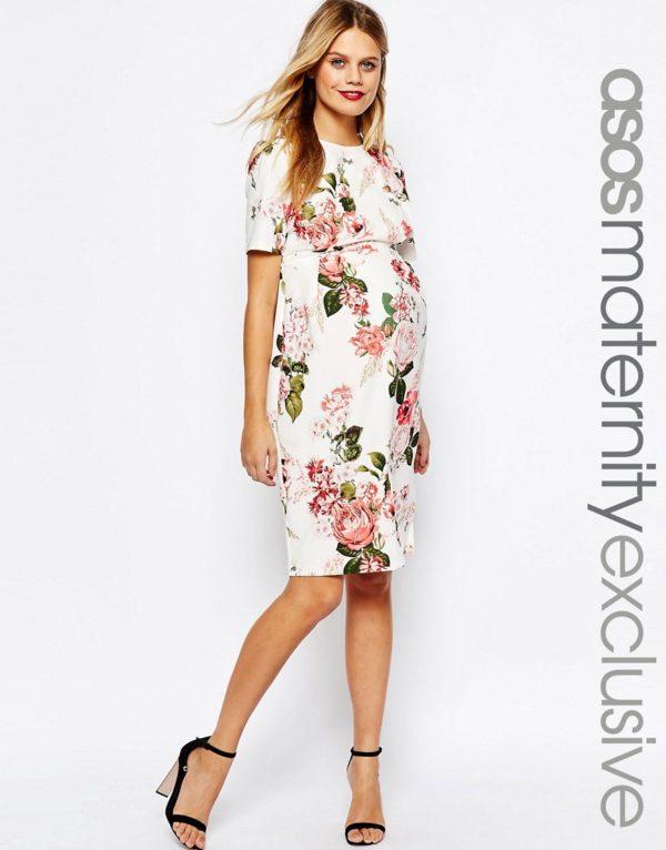 vestidos-de-fiesta-premama-para-embarazadas-estampado-corto