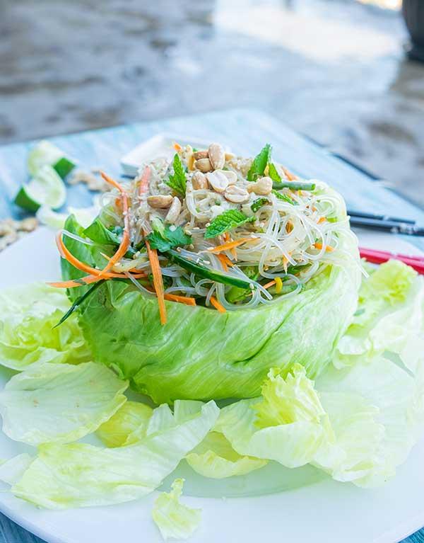 Vietnamese noodle salad, gluten free, vegan