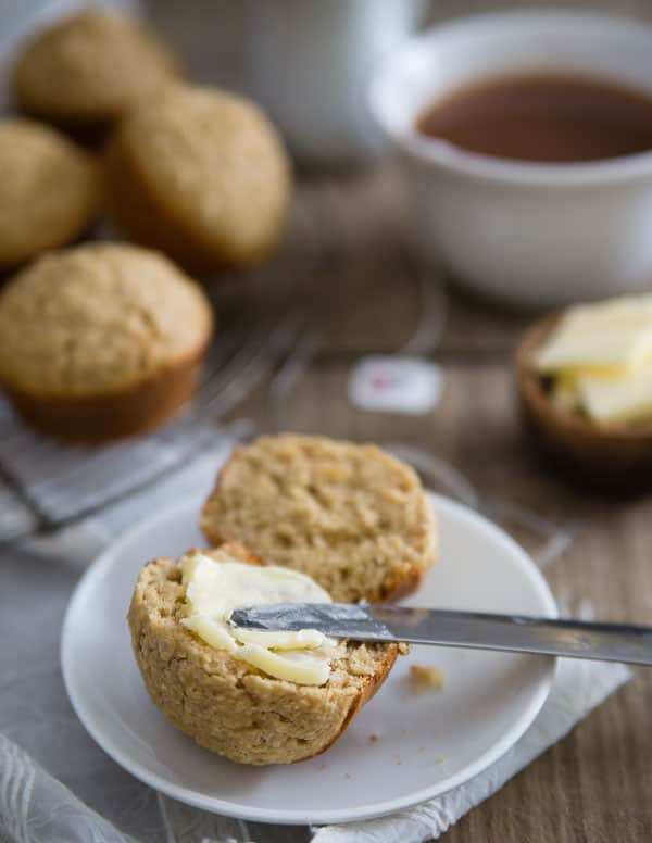 Brown Bread Muffins with Candied Ginger are a new way to enjoy traditional Irish brown bread.