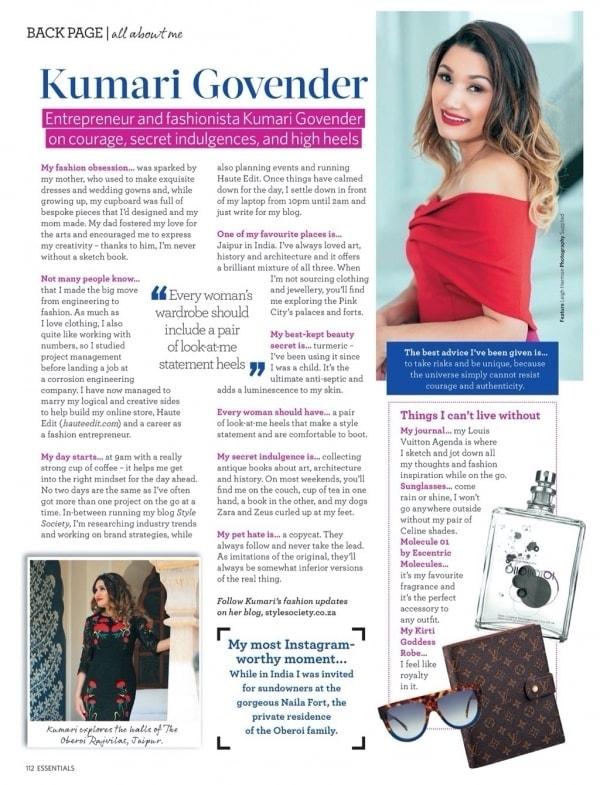 Essentials Magazine All About Me Kumari Govender