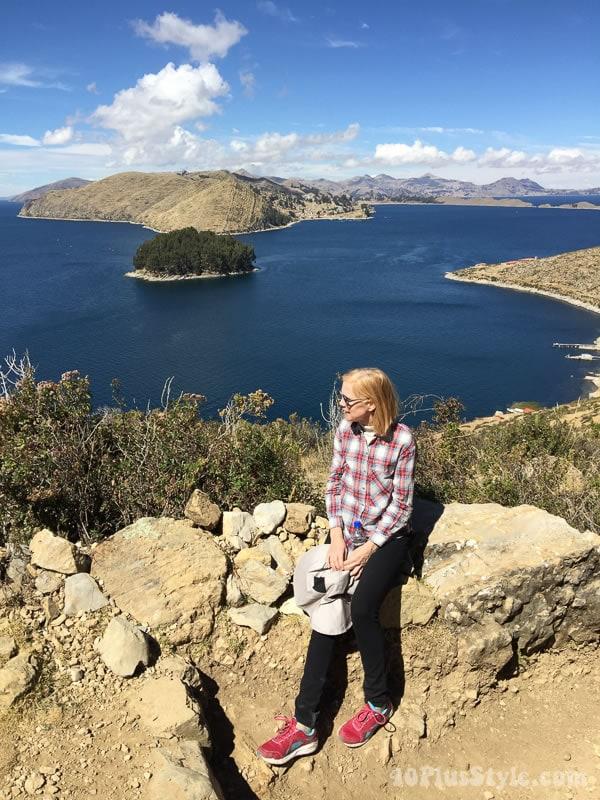 What I wore to Bolivia: plaid top | 40plusstyle.com