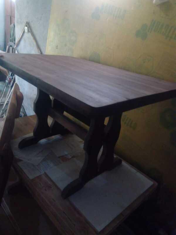 Стол для кафе из массива состаренного дерева 2000мм