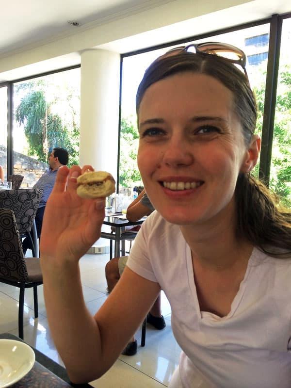 Eating an Alfajore Cookie