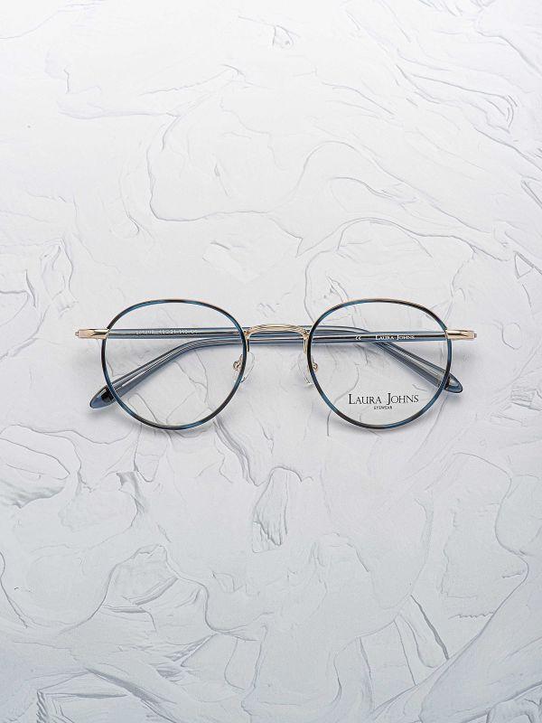 Paire de lunettes Laura Johns 4205 couleur bleue face