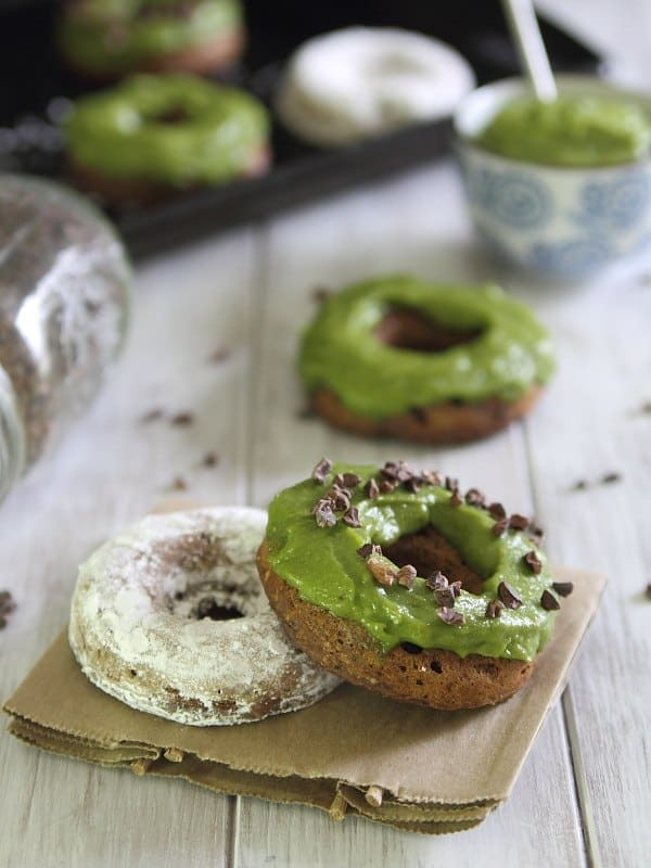 These baked chocolate avocado donuts are a healthier way to enjoy a cake donut!
