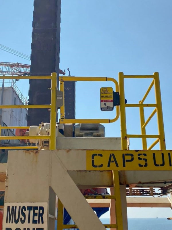 YellowGate Safety Swing Gate Fall Protection at a Qatar Petroleum facility