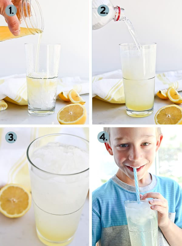 Instant Pot Lemonade in a glass with ice