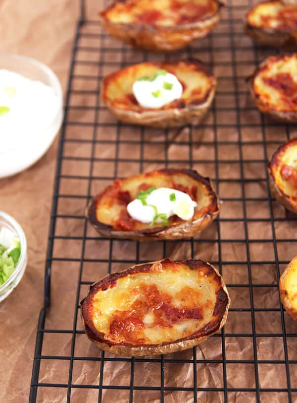 Cheese Potato Skins with Bacon