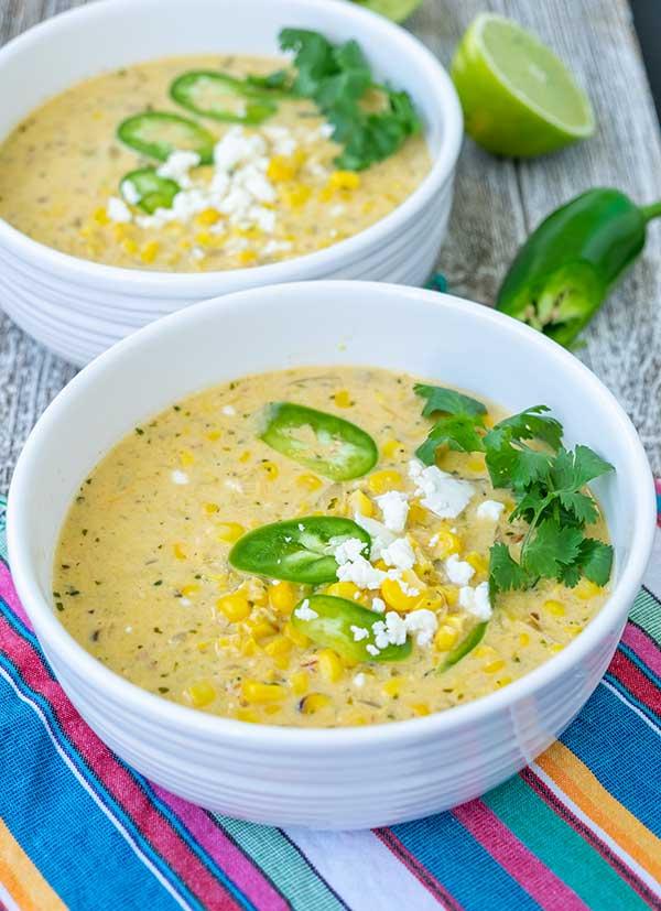 corn soup, Mexican, gluten-free