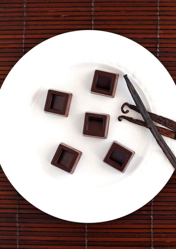 Healthy Dark Chocolate with Vanilla