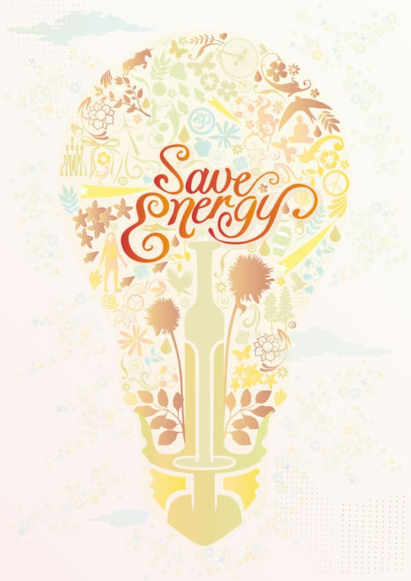 Save Energy Personal Illustration