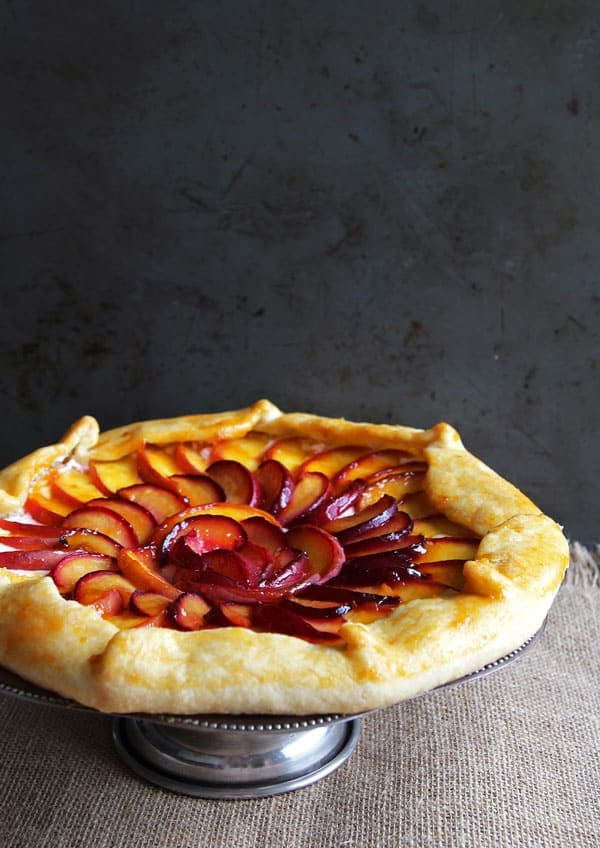 Close-up of Peach Plum Galette