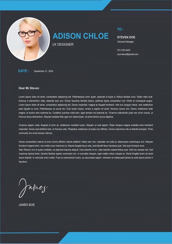 Clean & Professional Editable Word Cover Letter Template