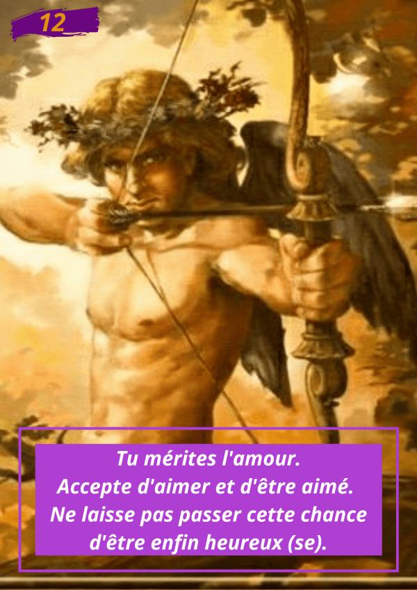 Oracle Le messager spirituel : Carte N°12 : Tu mérites l'amour