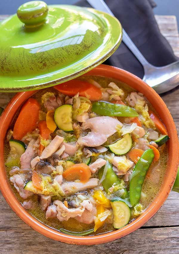 chicken stew, 30 minutes