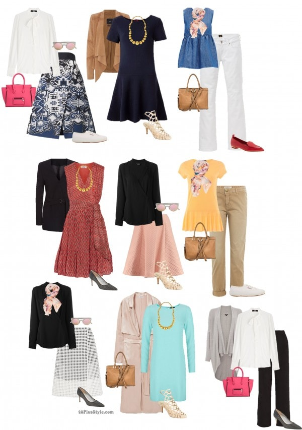 apple shape spring looks | 40plusstyle.com