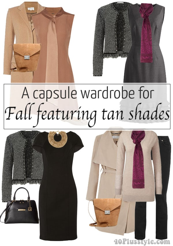 a capsule wardrobe for fall | 40plusstyle.com