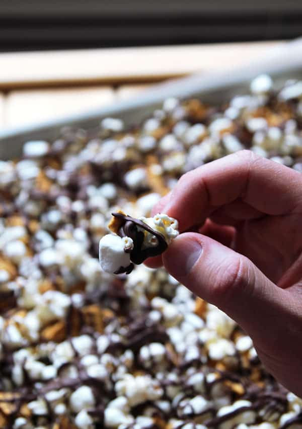 Piece of S'mores Popcorn Munch