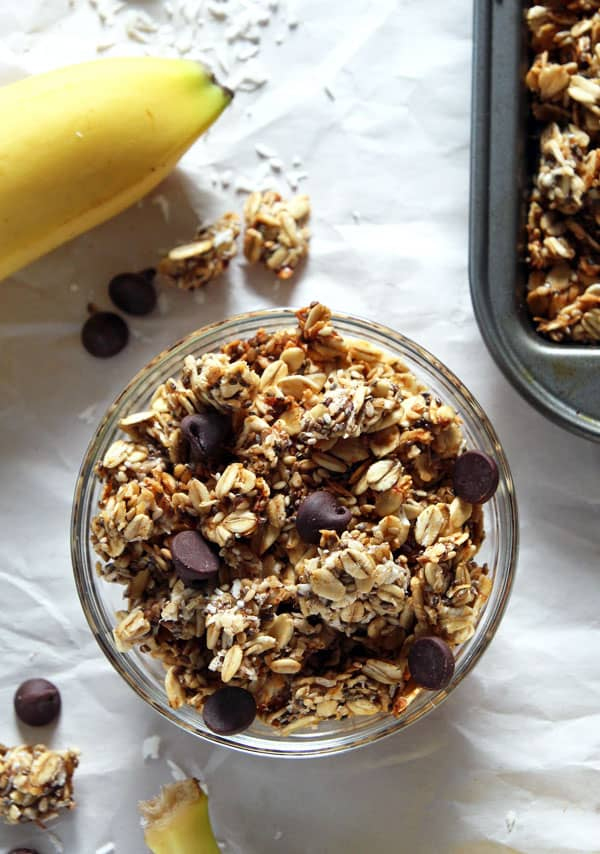 Bowl of Banana Coconut Granola