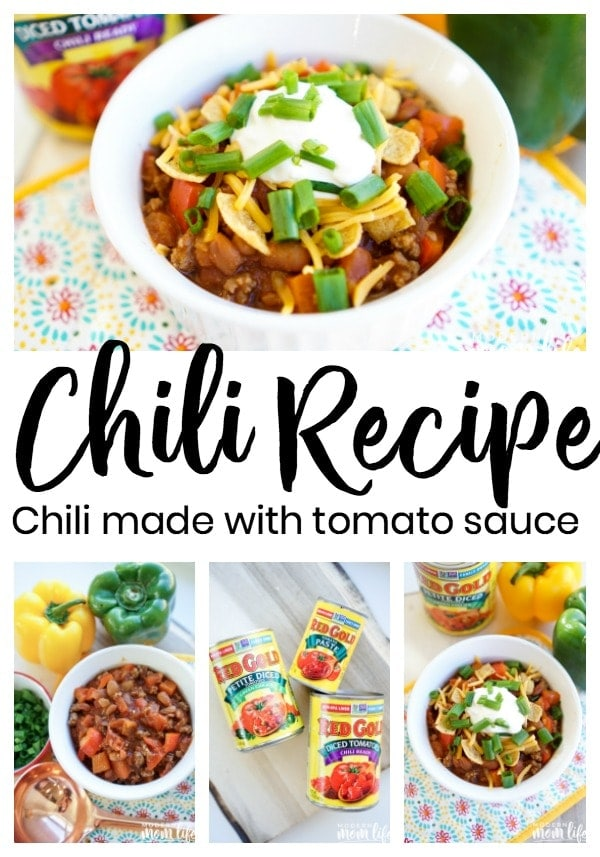 Chili recipe made with tomato sauce