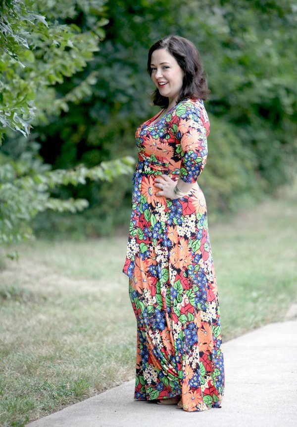 floral maxi dress   40plusstyle.com