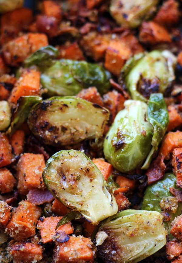 Brusselsprouts Sweet Potato Hash
