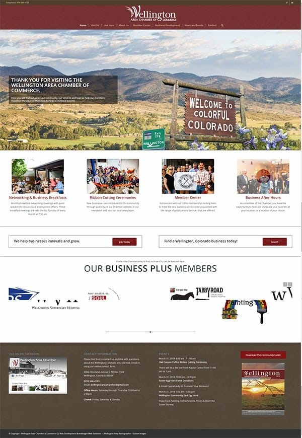 Wellington Colorado Chamber of Commerce Home Page