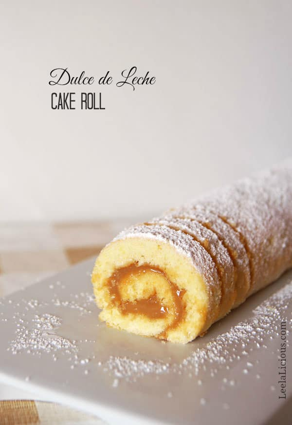 Cake Roll with Dulce de Leche