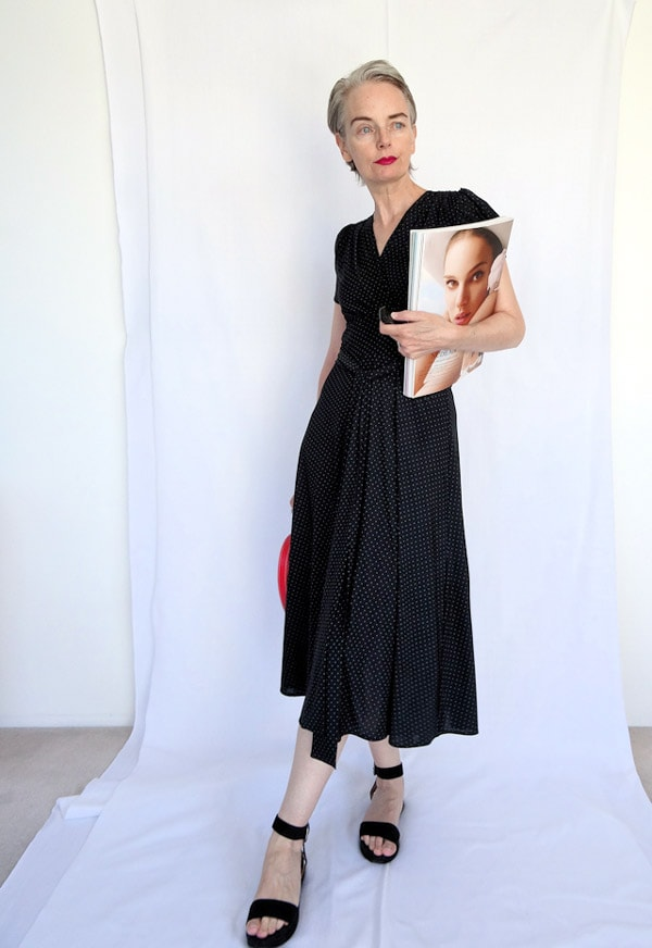 Chic and elegant in a black dress | 40plusstyle.com