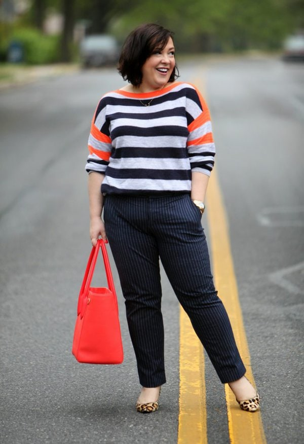 Stripes on stripes outfit   40plusstyle.com