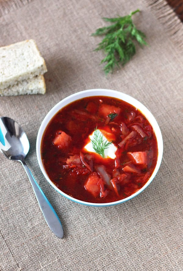 Beet Cabbage Soup