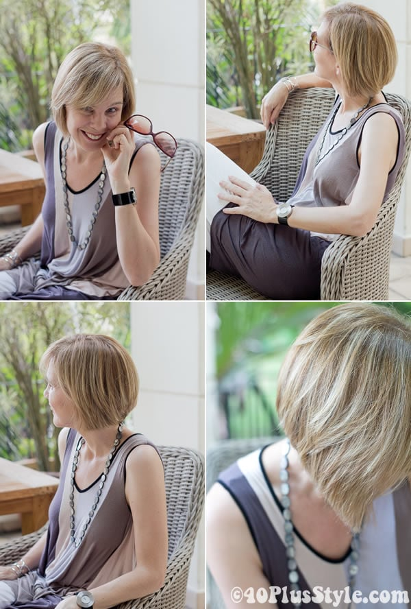 shorter hairstyle