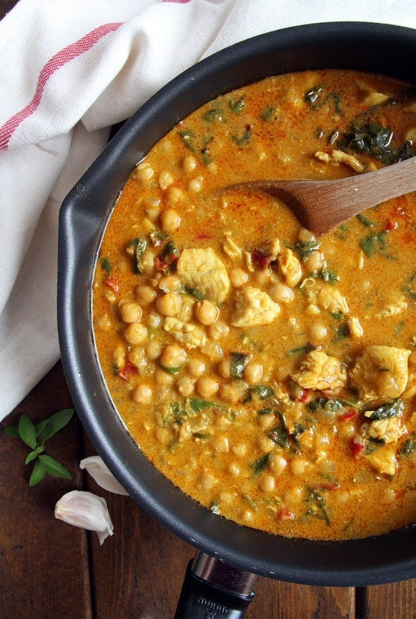 Creamy Chicken Chickpea Curry