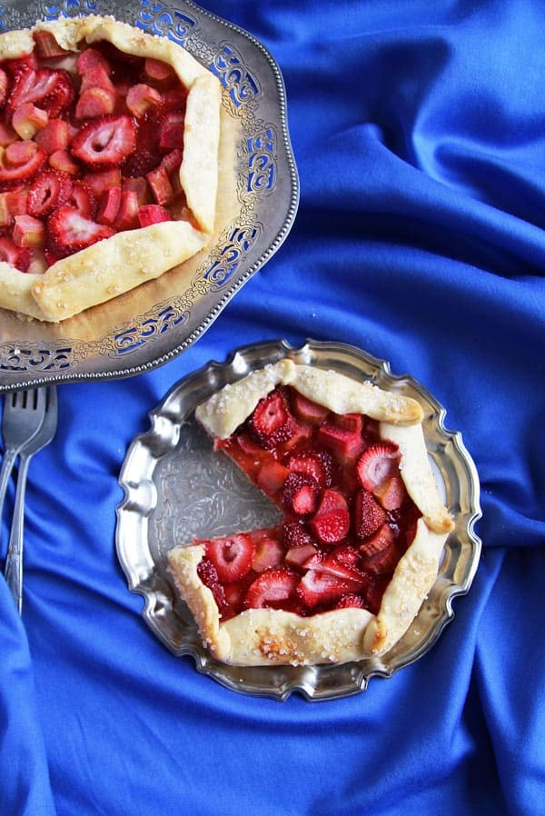 Galette with Strawberry and Rhubarb