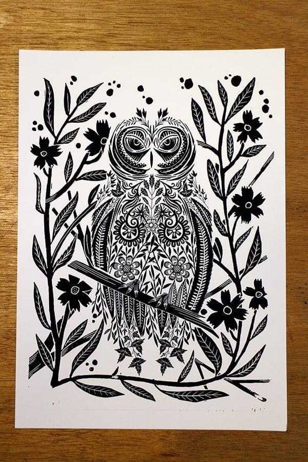 Jitesh Patel Illustration Hand drawn Owl DrawingJitesh Patel Illustration Owl Drawing