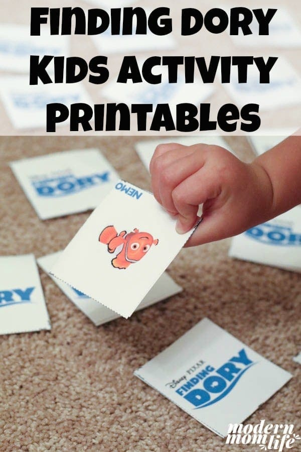 Finding Dory Kids Activities Pinterest